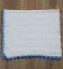 Magic Needles Classic Bordered Blanket in White Colour