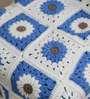 Magic Needles Exclusive Granny Square Blanket in Blue Colour