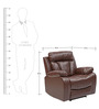 Magna 1 Seater Recliner Sofa by Evok