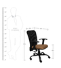 Magna Ergonomic Chair in Beige & Black Colour by Starshine