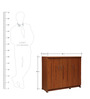 Majestic Shoe Rack in Brown Colour by RVF