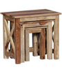 Fife Set Of Tables in Natural Sheesham Finish by Woodsworth