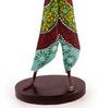 Chandrak Cymbal Musician Figurine in Multicolor by Mudramark