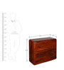 Cincinnati Chest of Drawers in Honey Oak Finish by Woodsworth