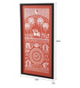 Manomay Kreations Canvas 12 x 2 x 24 Inch Bride Groom Procession Framed Warli Painting