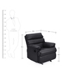 Manual Recliner with Glider in Black Colour by Comfort Couch