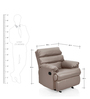 Manual Recliner with Glider in Grey Colour by Comfort Couch