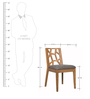 Manuel Dining Chair (Set of 2) in Cocoa and Seal Colour by CasaCraft