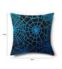 Mapa Home Care Black Duppioni 16 x 16 Inch Silk Sequined Work Cushion Cover