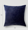 Mapa Home Care Dark Blue Cotton 16 x 16 Inch Solid Cushion Cover