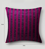 Mapa Home Care Pink & Purple Duppioni 16 x 16 Inch Sequined Work Cushion Cover