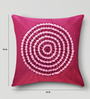 Mapa Home Care Pink Duppioni 16 x 16 Inch Textured Design Cushion Cover
