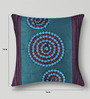 Mapa Home Care Purple & Blue Duppioni 16 x 16 Inch Textured Cushion Cover