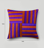 Mapa Home Care Purple & Orange Duppioni 16 x 16 Inch Woven Stripes Cushion Cover