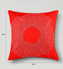 Mapa Home Care Red Duppioni 16 x 16 Inch Studed Work Cushion Cover
