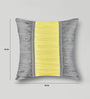 Mapa Home Care Yellow & Grey Duppioni 16 x 16 Inch Block Textured Printed Stylish Cushion Cover