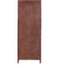Tulsa Tall Chest of Five Drawers in Provincial Teak Finish by Woodsworth