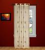 Raaga Set of 2 Door Curtain in Beige by Mudramark