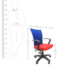 Marina Office Ergonomic Chair in Red Colour by Chromecraft