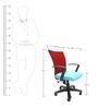 Marina Office Ergonomic Chair in Sky Blue Colour by Chromecraft