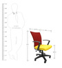 Marina Office Ergonomic Chair in Yellow Colour by Chromecraft