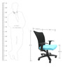 Marina WW Office Ergonomic Chair in Black & Sky Blue Colour by Chromecraft