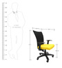 Marina WW Office Ergonomic Chair in Black & Yellow Colour by Chromecraft