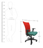Marina WW Office Ergonomic Chair in Red & Green Colour by Chromecraft