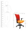 Marina WW Office Ergonomic Chair in Red & Orange Colour by Chromecraft