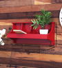 Marisela Contemporary Wall Shelf in Red by CasaCraft