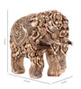 Marwar Stores Brown Polyresin Classic Engraved Miniature Elephant Statue
