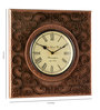 Marwar Stores Multicolour MDF 12 x 2 x 12 Inch Square Shaped Wall Clock