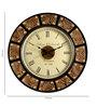 Marwar Stores Multicolour MDF 18 Inch Round Wall Clock