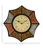 Marwar Stores Multicolour MDF 18 x 2 x 18 Inch Star Shaped Wall Clock