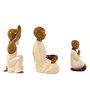 Marwar Stores Multicolour Polyresin Meditating Monk Statue