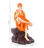 Marwar Stores Orange Polyresin The Sai Statue