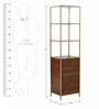 Mason Tower Bookcase in Brown Colour by Asian Arts