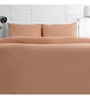 Maspar Beige Cotton Solid 88 x 60 Inch Bed Sheet (with Pillow Cover)