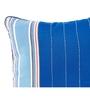 Maspar Blue Cotton 16 x 16 Inch Geometric Design Cushion Cover