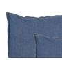Maspar Blue Cotton 18 x 18 Inch Solid Cushion Covers - Set of 2