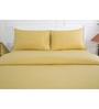 Maspar Golden 100% Cotton Single Size Bed Sheet - Set of 2