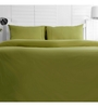 Maspar Green Cotton Solid 108 x 90 Inch Double Bed Sheet (with Pillow Covers)