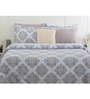 Maspar Grey 100% Cotton Queen Size Duvet Cover - Set of 2