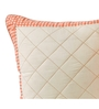 Maspar Peach & White Cotton 16 x 16 Inch Geometric Patterns Cushion Cover