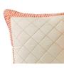 Maspar Peach & White Cotton 18 x 18 Inch Geometric Patterns Cushion Cover