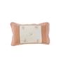 Maspar Peach Cotton Stripes and Checks 3-piece Baby Bed Set