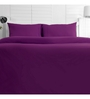 Maspar Purple Cotton Solid 108 x 108 Inch Double Bed Sheet (with Pillow Covers)