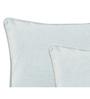 Maspar Sky Blue Cotton 18 x 18 Inch Solid Cushion Covers - Set of 2