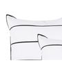 Maspar White & Black Cotton 18 x 18 Inch Stripes Cushion Covers - Set of 2