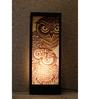 Material Studio White & Black Wood & Handmade Paper Night Owl Table Lamp